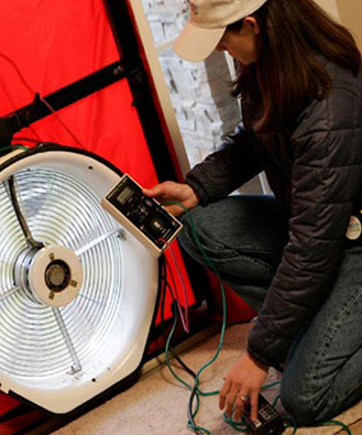 Blower Door Verification Air Tightness Test